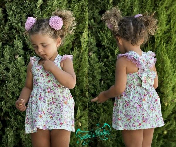 Maricruz moda infantil-vestido de playa colección tomillo