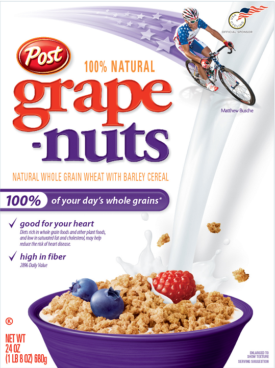 Grape Nuts is a cereal. A healthy, high in fibre, whole grain cereal ...