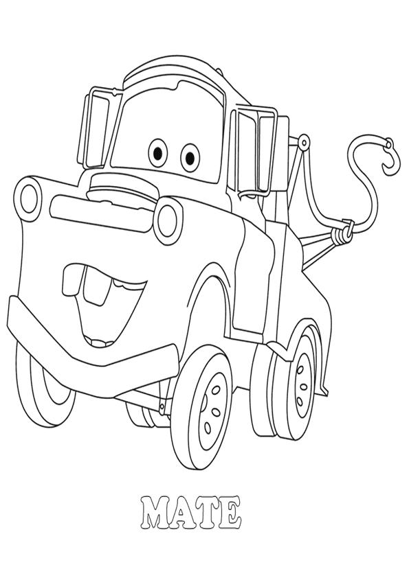 dibujo colorear the car: