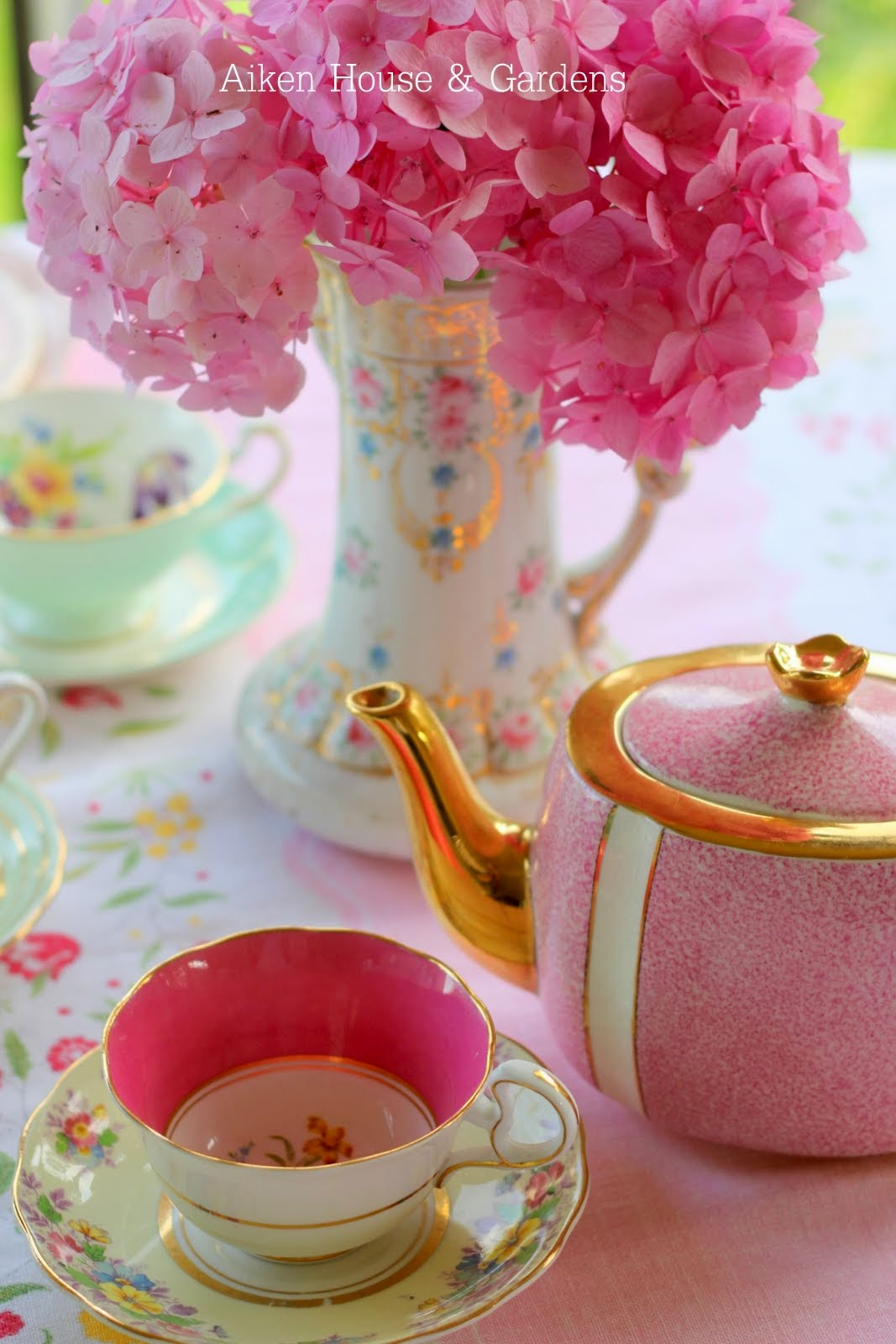 Preparing For The Vintage Tea Party