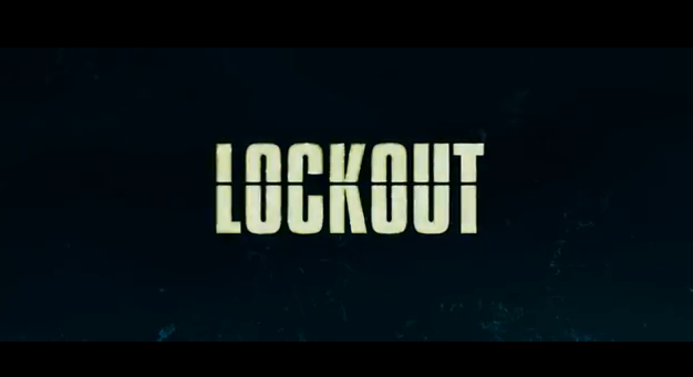Lock-Out 2012 science fiction action film title starring Guy Pearce and Maggie Grace