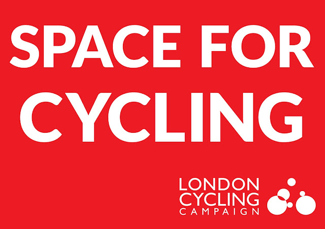Space for Cycling protest placard from lcc.org.uk