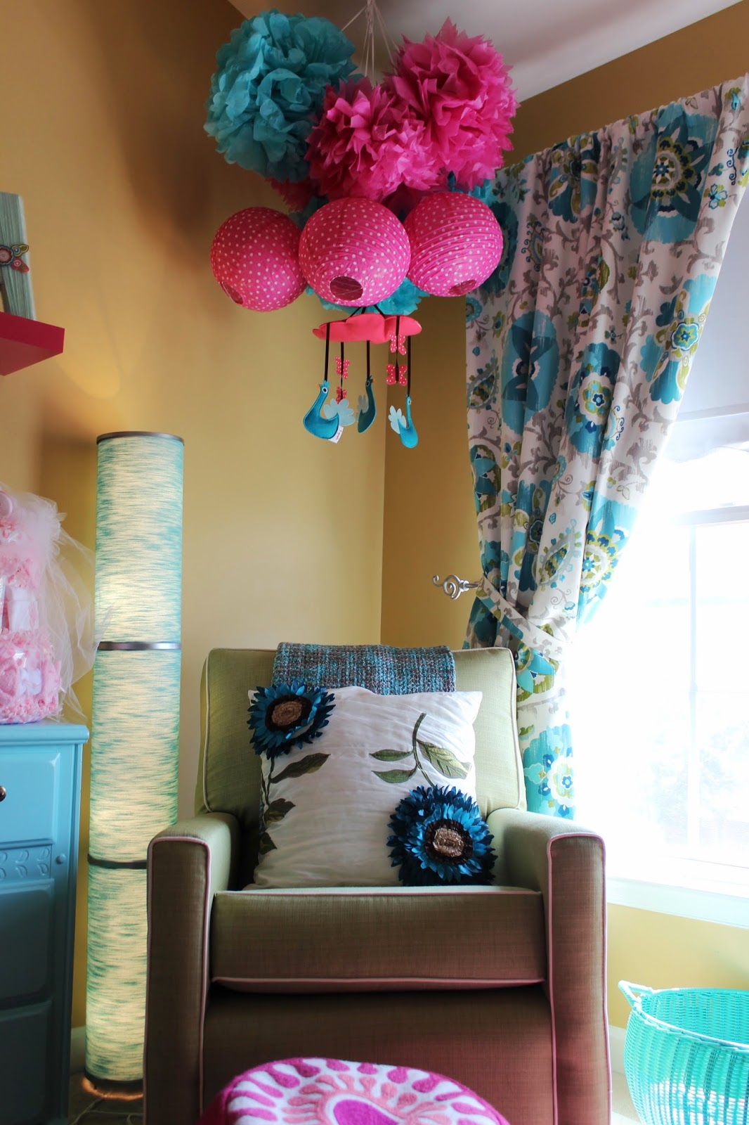 Bliss In Imperfection: A Teal and Pink Nursery For The LIttle Miss #9F2C60