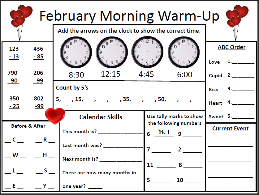 math worksheet : math warm up worksheets  educational math activities : Math Warm Up Worksheets