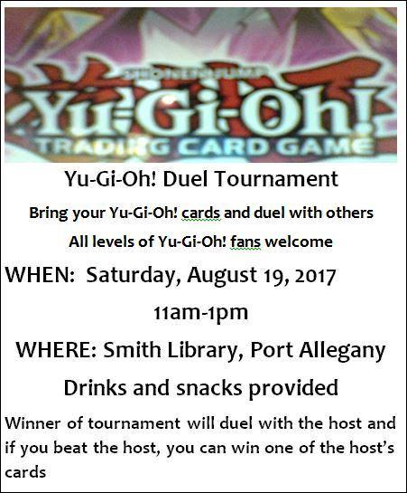 8-19 Yu Gi Oh Duel Tournament