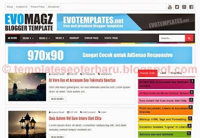 Download Template Responsive Evo Magz Gratis
