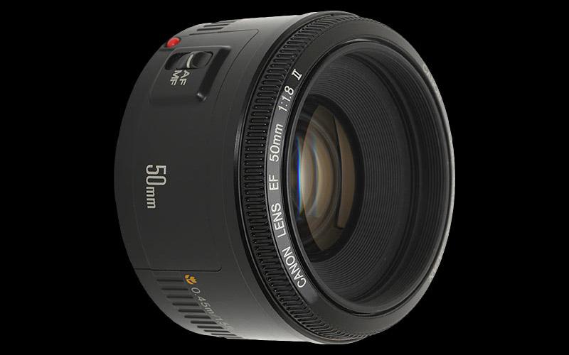 canon 50mm f1.8 lens obiettivo