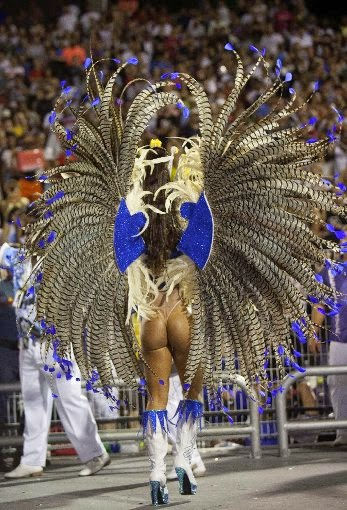 colorful parades of the samba schools