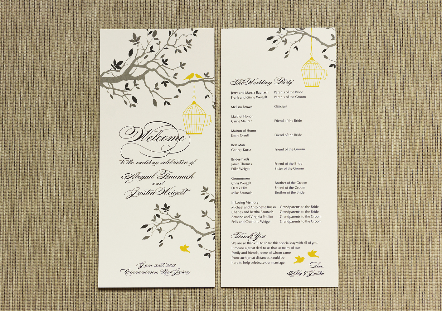 What to include in your wedding program? | Citrus Press Co Invitations