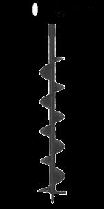 Broca taladro de tierra 10cm diametro