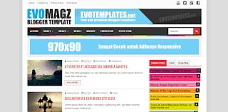 Evo Magz Blogger Template Premium Beneran Gratis