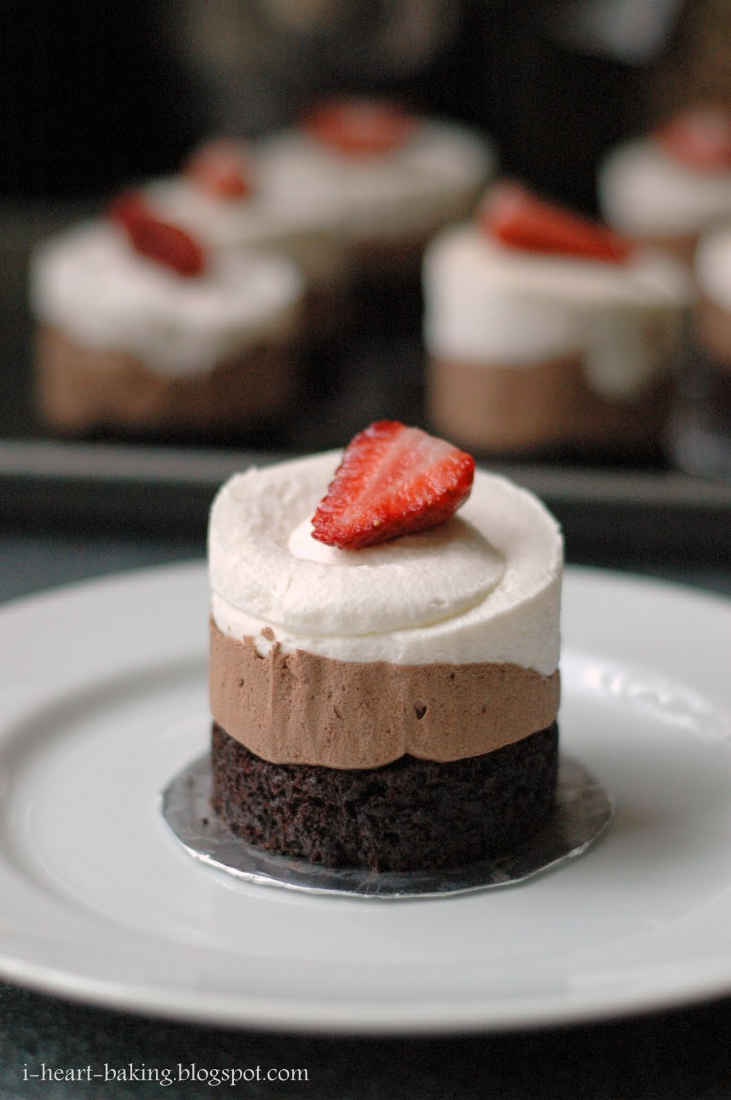 heart baking!: triple chocolate mousse cakes