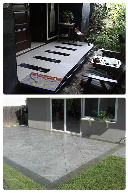 model lantai keramik dan atap teras rumah minimalis satu