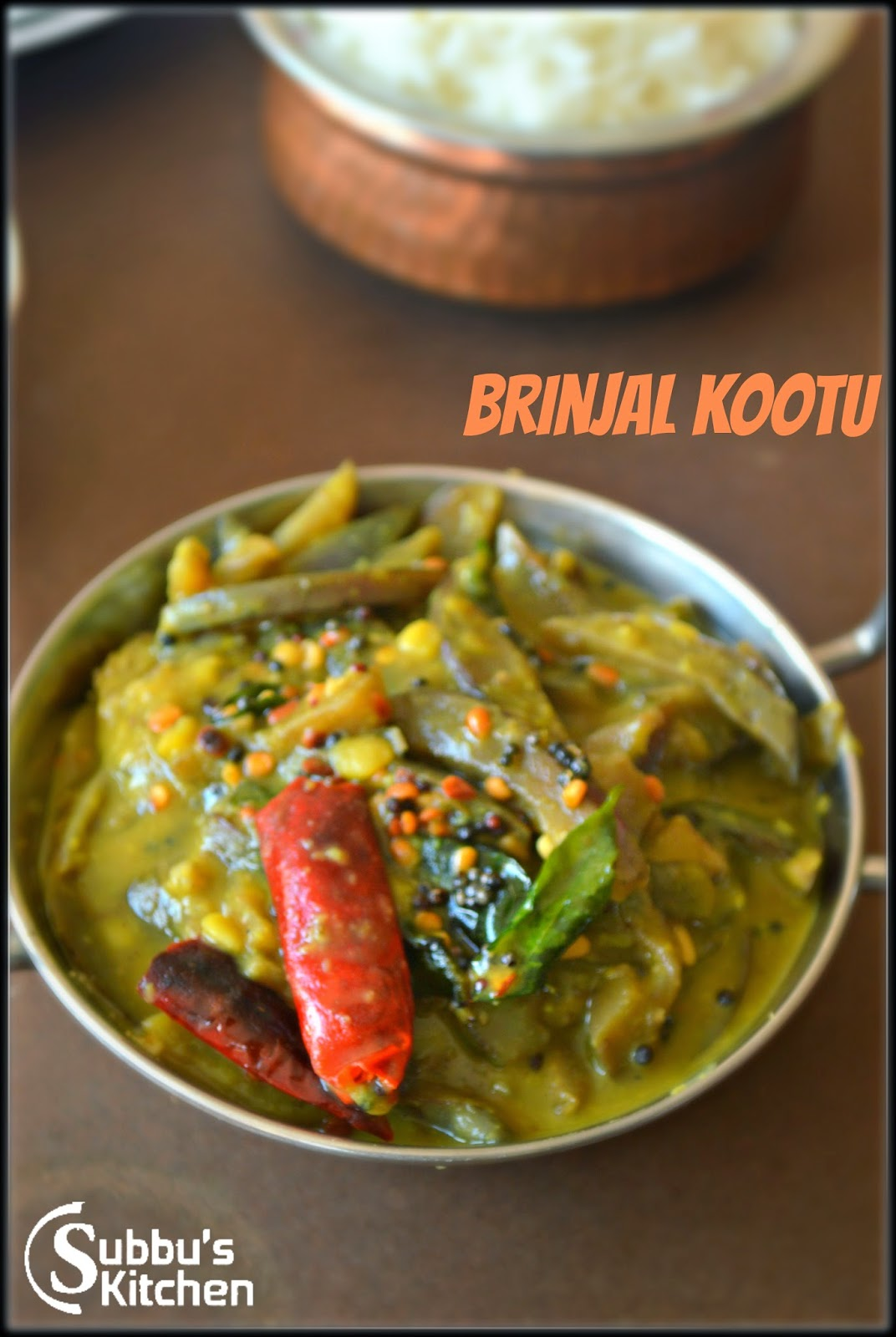 Brinjal Stew | Kathirikaai Kootu