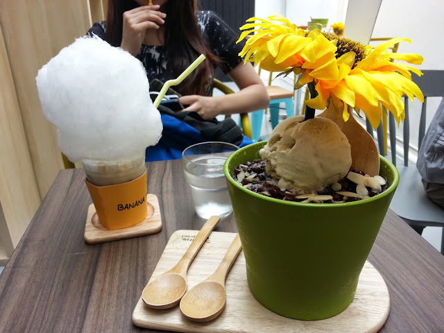 Banana tree sg pot bingsu