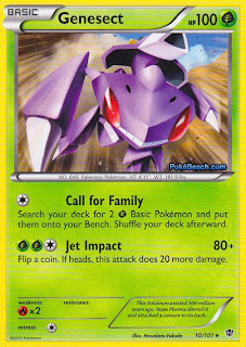 Genesect Plasma Blast Pokemon Card