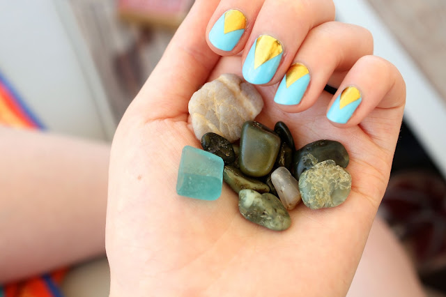 nail design and sea glass