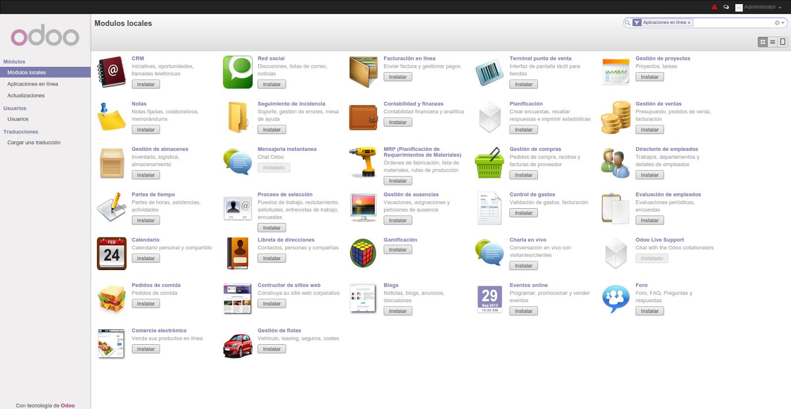 DriveMeca instalando odoo ERP en Linux Centos 7
