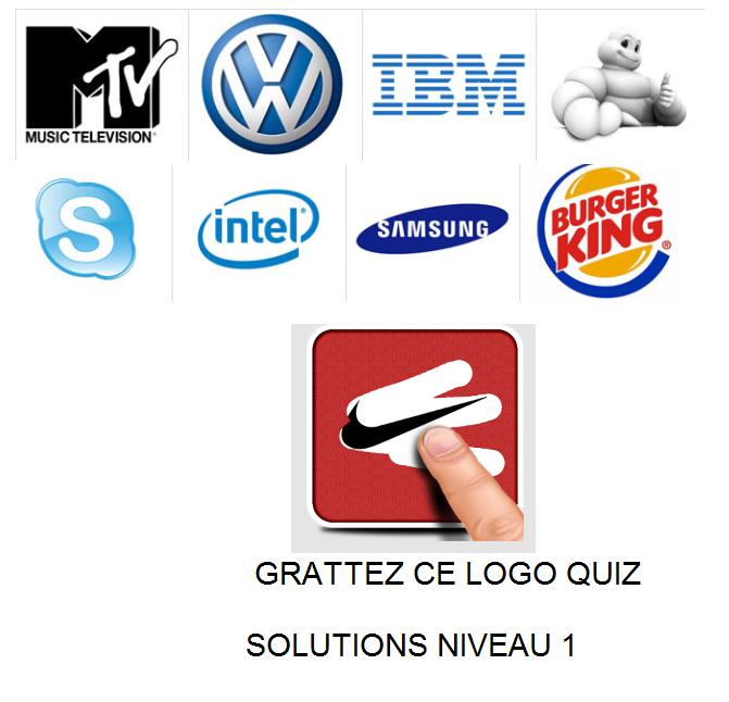 Grattez ce logo quiz solutions niveau 1