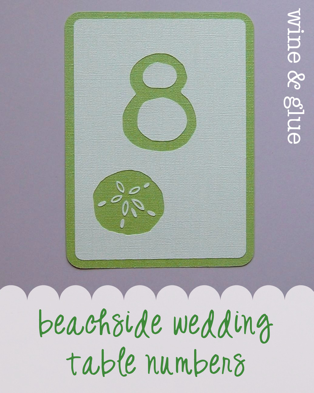 beach wedding table numbers sand dollar