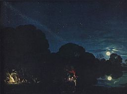 oil paining - Flucht nach Ägypten - by Adam Elsheimer