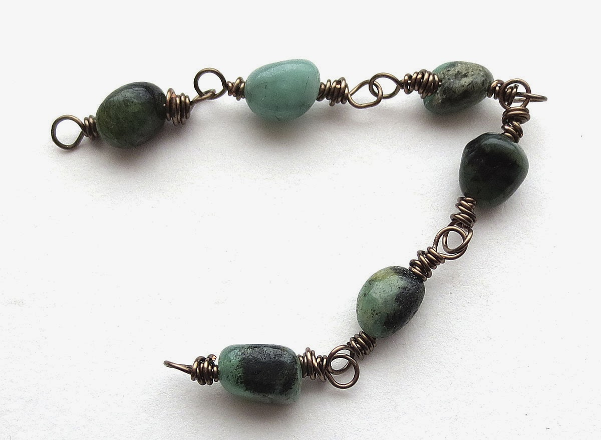 Art Bead Scene Blog: Tutorial: Double Wrap Spruce Bough Bracelet