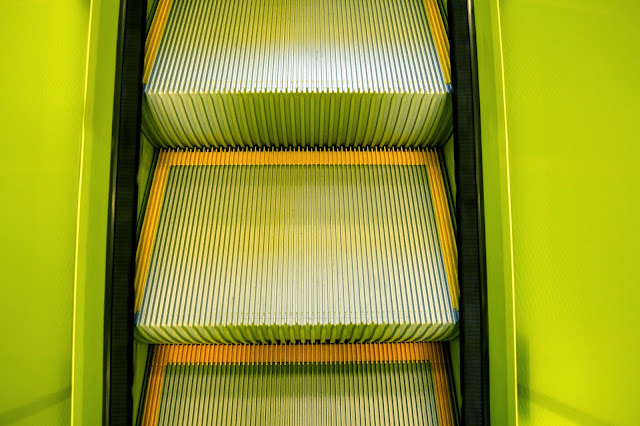 Seattle Public Library - Yellow Escalator
