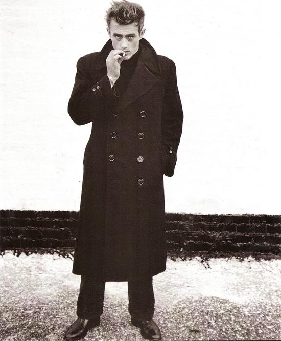 James Dean abrigo negro