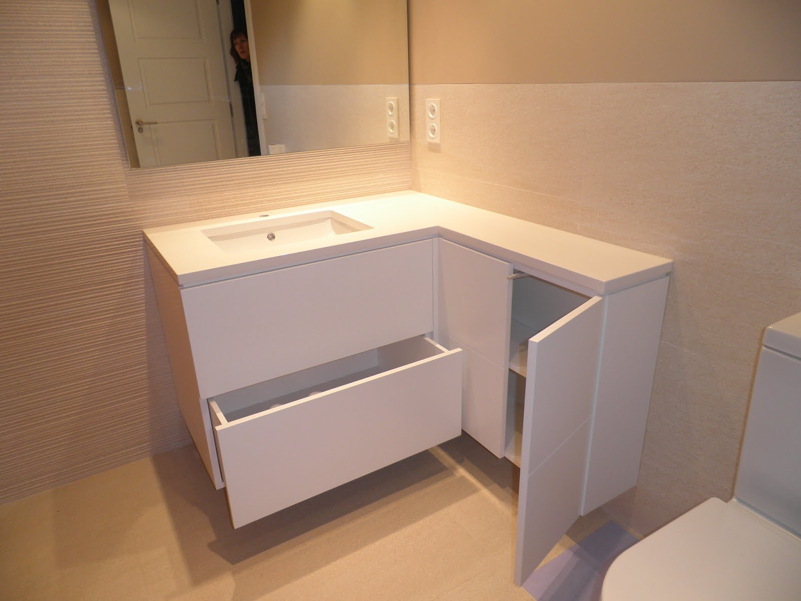 Mueble para lavabo lacado  Muebles Cansado (Zaragoza)  Carpintero