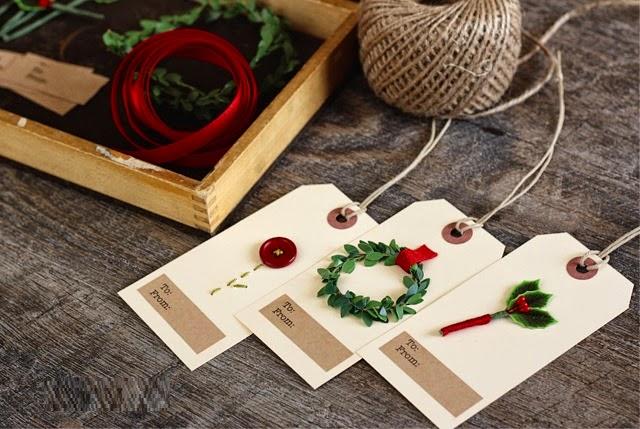 DIY, Etiquetas para Navidad