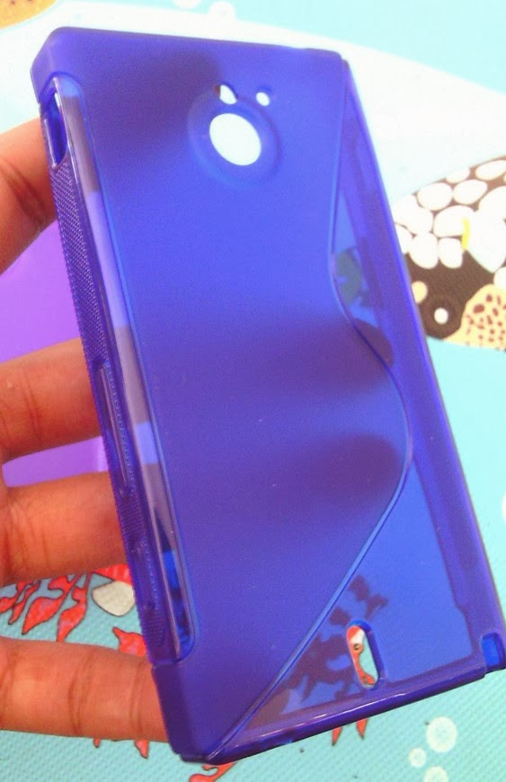 TPU Jelly Case for Sony Xperia Sola MT27i - Blue