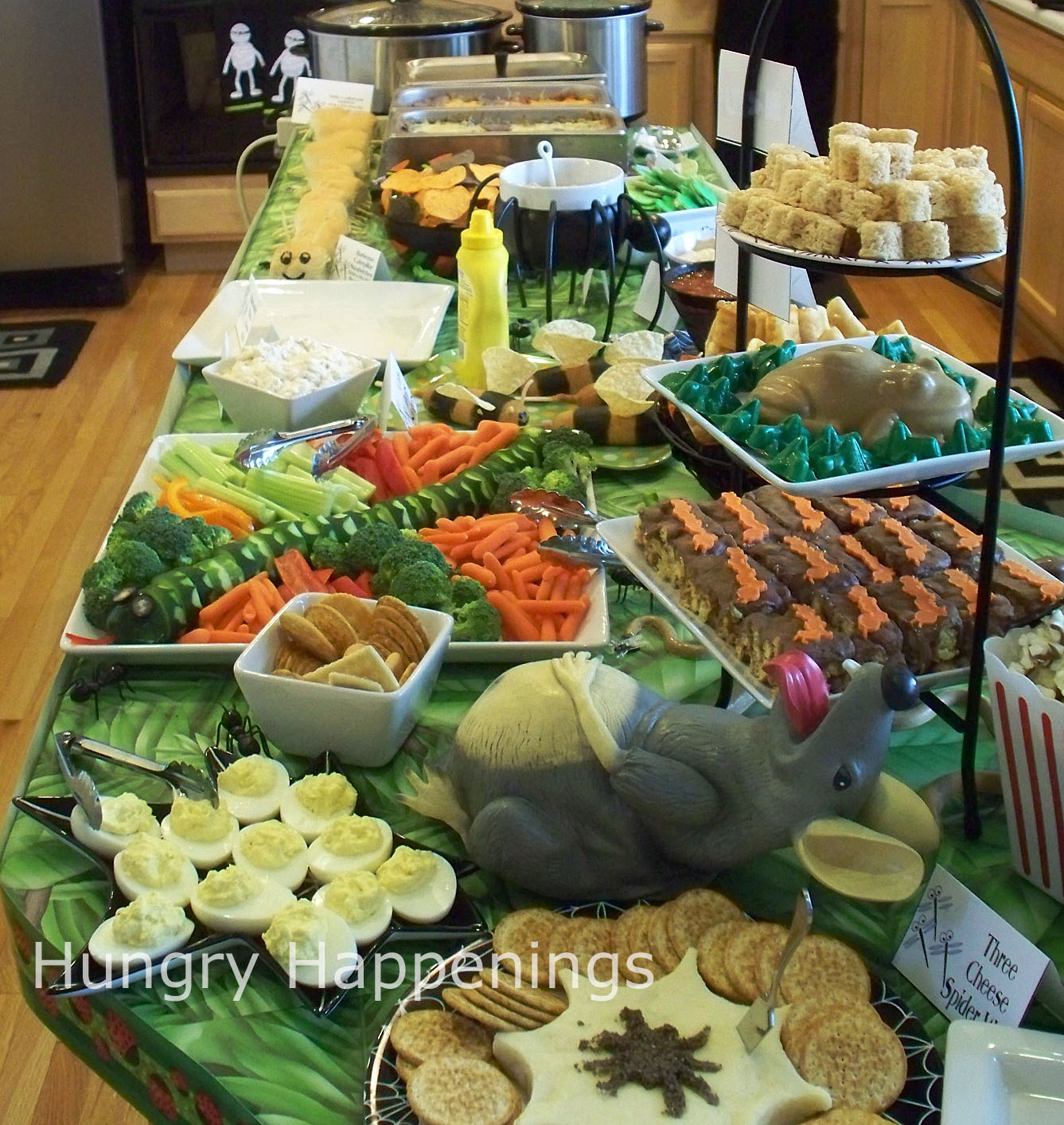 Carnival of the creepy crawlers halloween party theme for Food bar ideas for a party