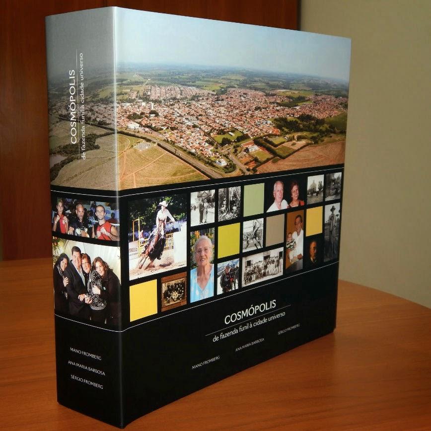 A capa do livro que conta a história de Cosmópolis é um mosaico de seus personagens.