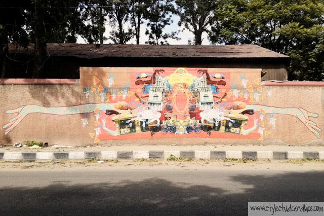 Street art by Srishti School of Art, Design and Technology.