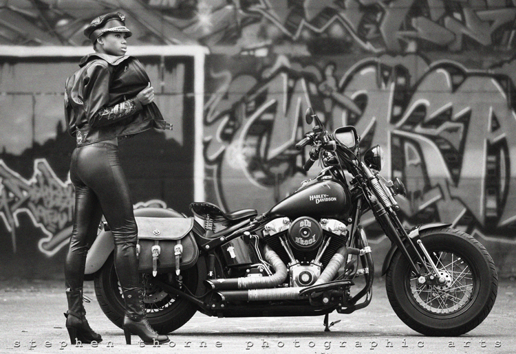 Motorcycle Girl 063 Foxy Lady Return Of The Cafe Racers