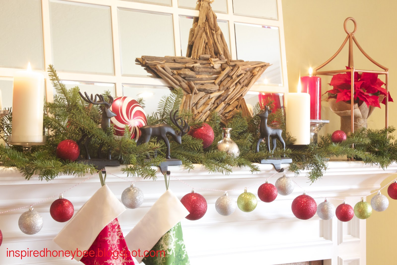 inspired honey bee home evergreen holiday mantel inspiration
