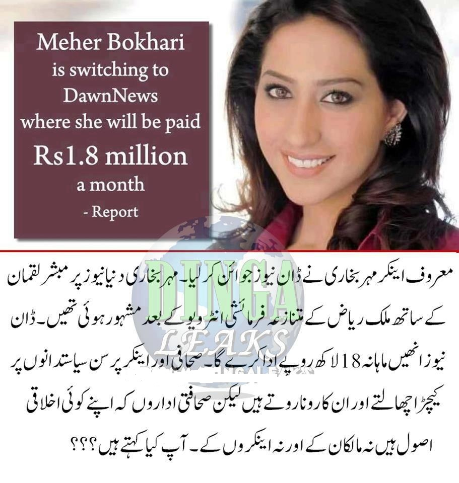 Mahar Bukhari http://asifzardarikuta.blogspot.com/2013/02/mehar-bukhari-new-job-salary-is-18-lac.html