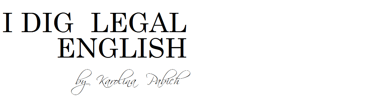 I DIG LEGAL ENGLISH by Karolina Pabich