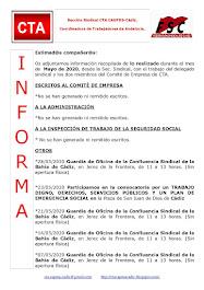 C.T.A. INFORMA, LO REALIZADO EN MAYO DE 2020