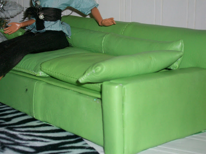 THE green leather sofa.