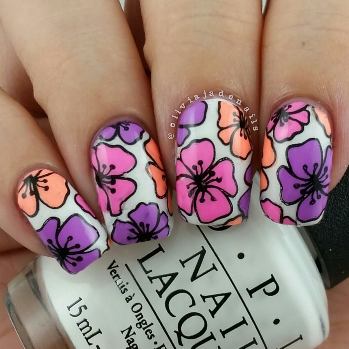 Olivia Jade Nails: Nail Stamping Decal Tutorial Featuring Uberchic ...