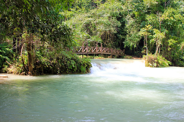 Bridge at Kuang Si Falls