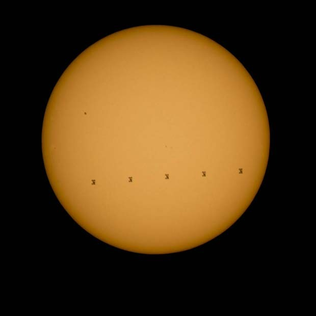 NASA image shows a Space Station passing in front of the Sun, Space station picture, Science news