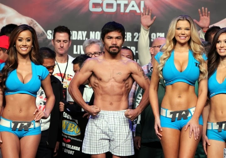 Manny Pacquiao vs. Brandon Rios (WEIGH-IN) Video & Photos