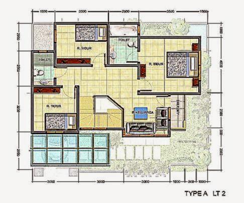 Denah Rumah Mewah Minimalis Modern  Arsitek Rumah Minimalis
