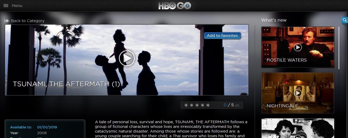 Sky Broadband HBO Go