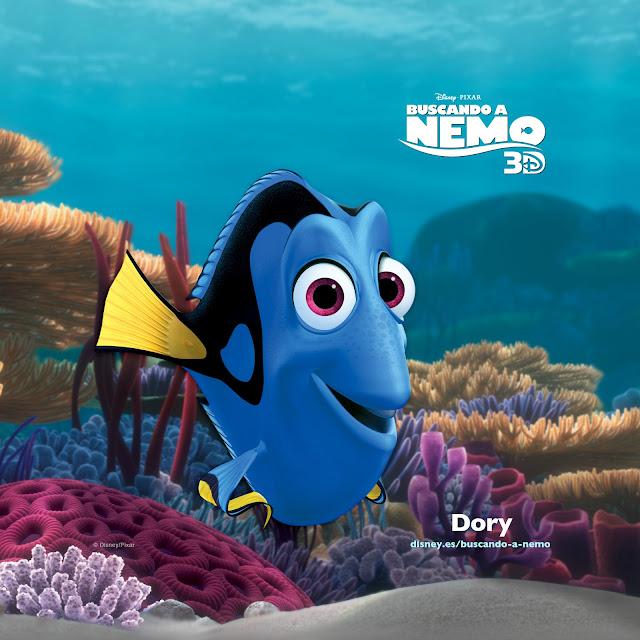 Wallpaper de la película de Pixar buscando a Nemo, Dori, formato tablet