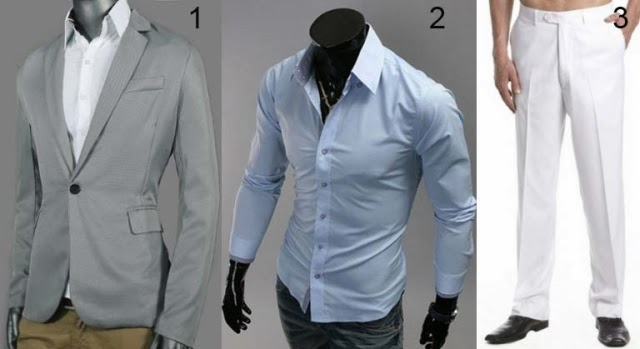 Wedding guest business casual clothes men