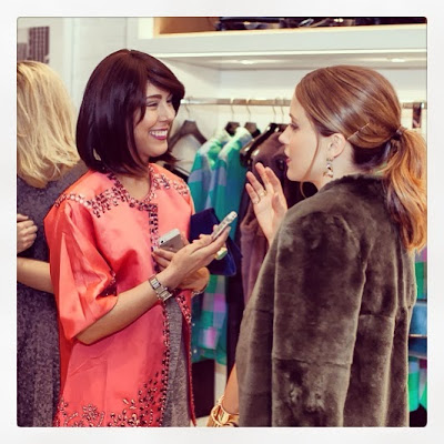 Fashion Junkie, Jessica Moazami, interviewing One Tree Hill star Sophia Bush at Coach's launch party.