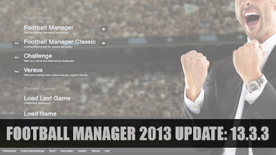Football Manager 2013 hotfix Update